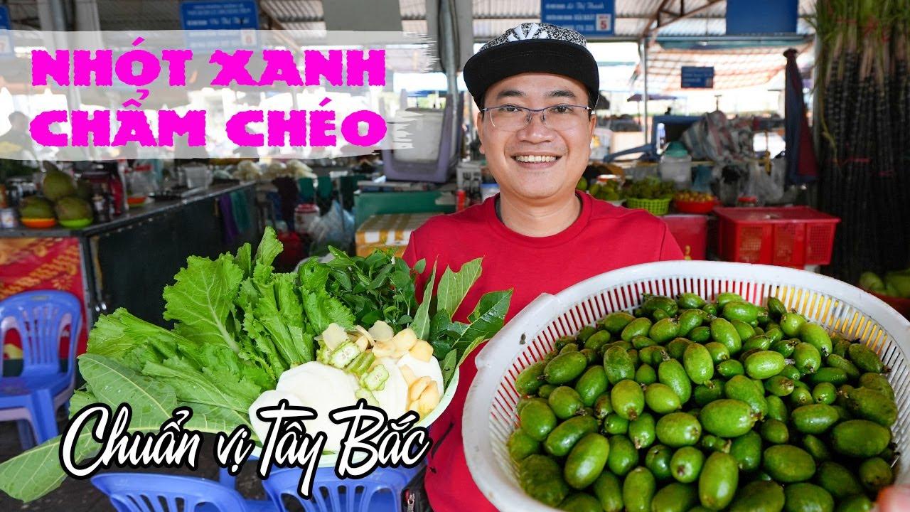 Ăn Nhót Xanh chấm Chẩm Chéo chuẩn vị Đặc sản Tây Bắc tại Chợ Sơn La