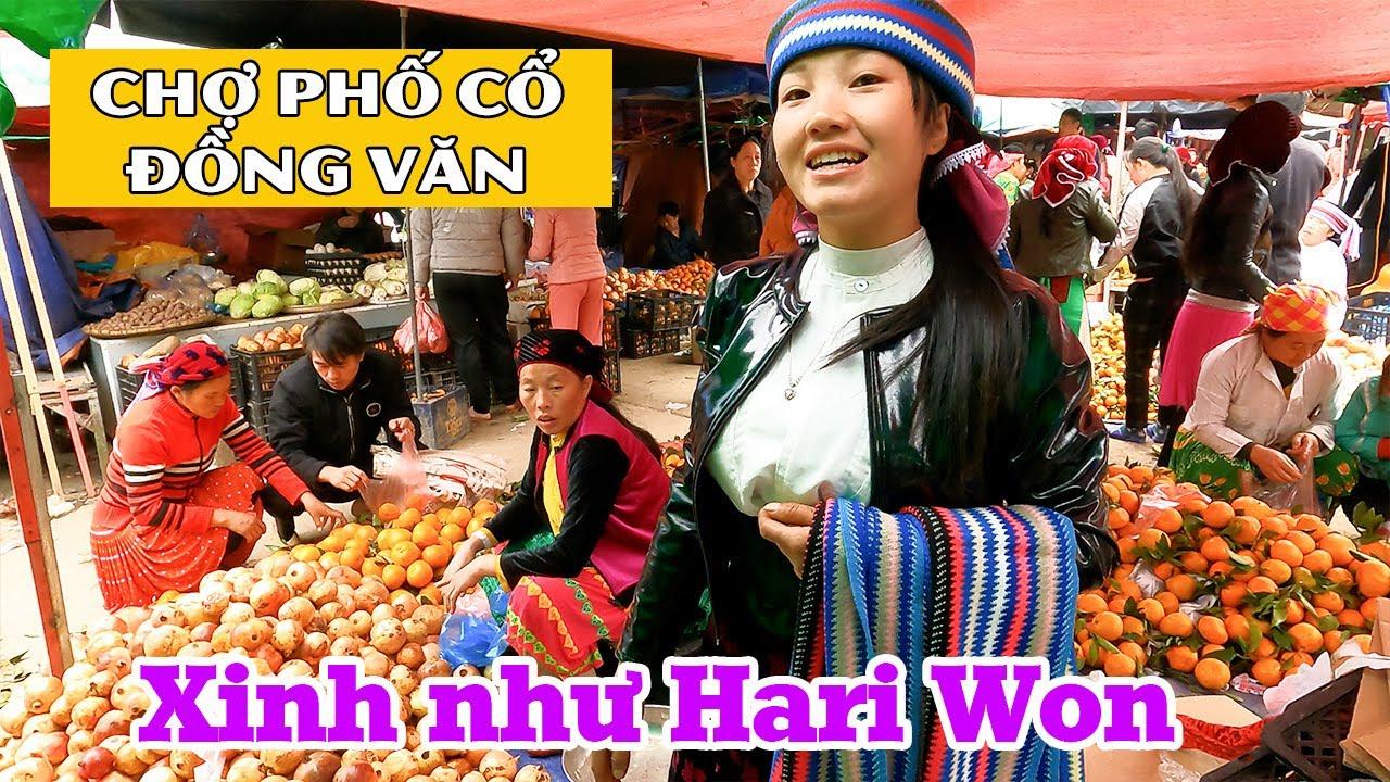 Đi Chợ Phiên Vùng Cao Phố Cổ Đồng Văn gặp cô gái xinh như vợ Trấn Thành | DU LỊCH HÀ GIANG