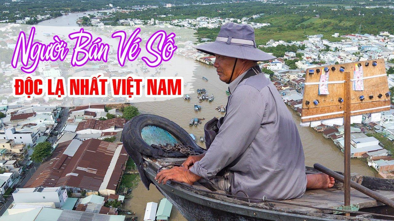 Người Bán Vé Số độc lạ nhất Việt Nam tại Chợ Nổi Miền Tây   DU LỊCH CẦN THƠ