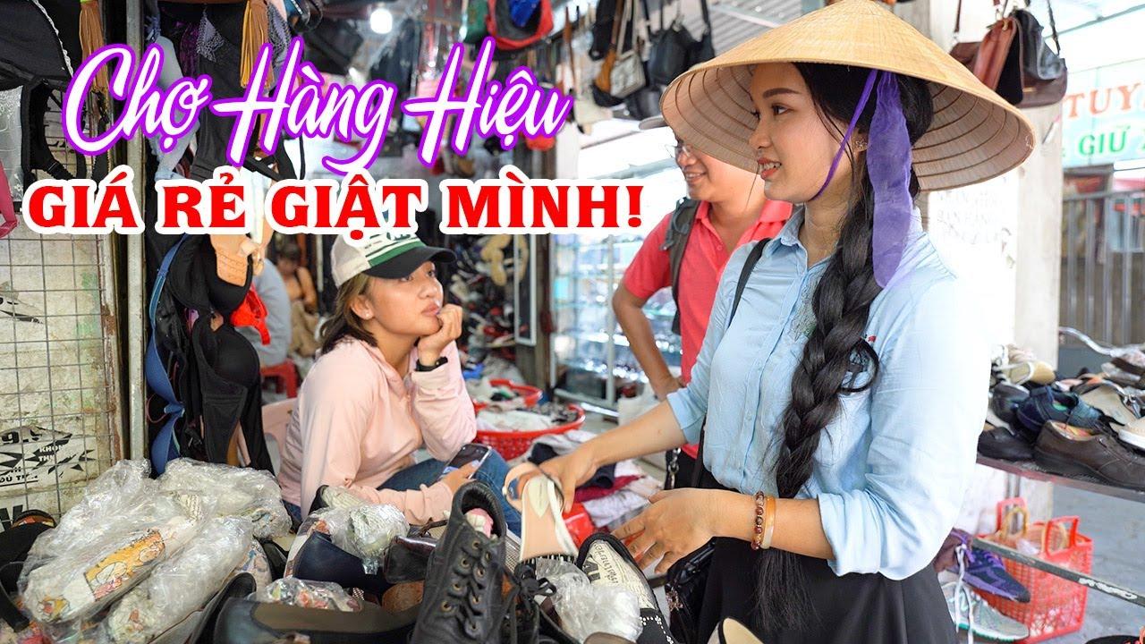 Vào Chợ Đồ Si Hàng Hiệu giá rẻ và Bất ngờ gặp Đôi Giày Tỏa Hương Thơm | DU LỊCH HUẾ