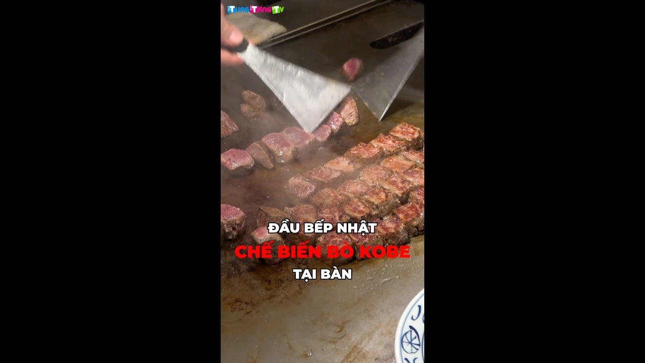 Đầu bếp Nhật Bản chế biến Bò Kobe tại bàn cực đã #Shorts